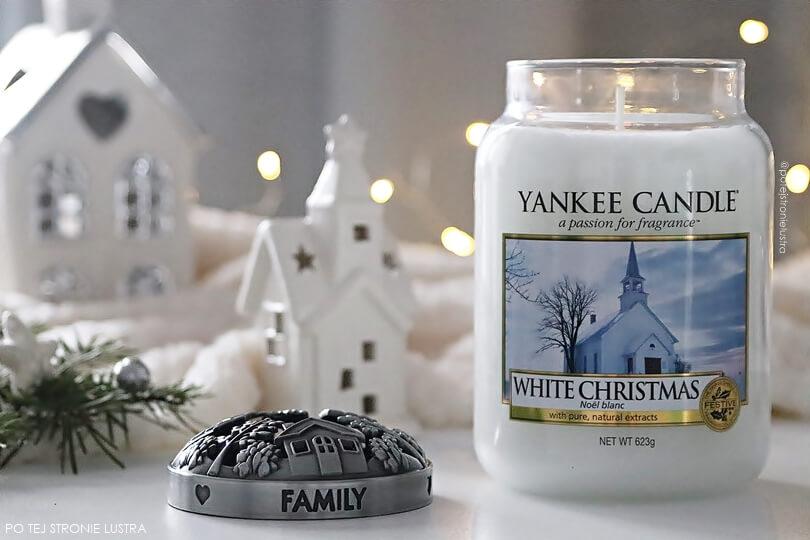 świeca zapachowa yankee candle white christmas edycja limitowana zima 2018