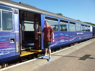 Richard Gottfried and a Pacer Railbus at Paignton railway station
