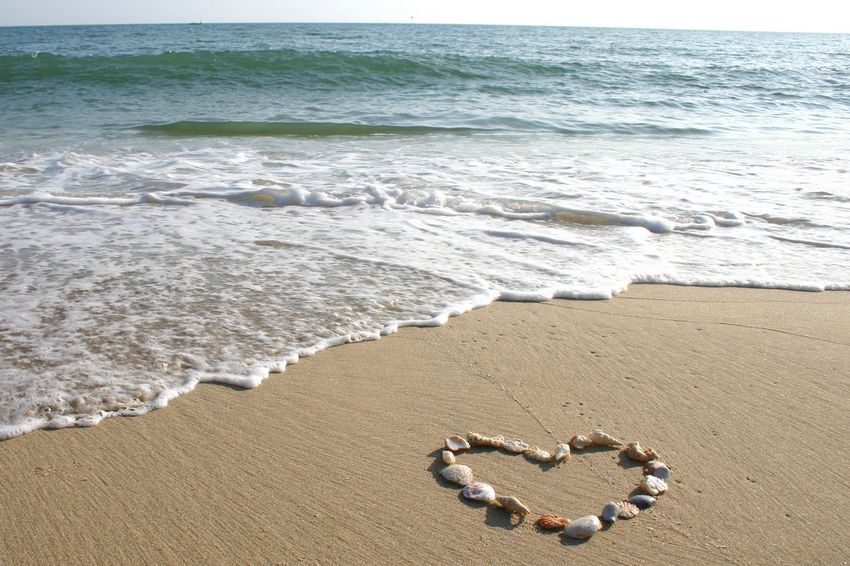 beach moments heart love - photo #15