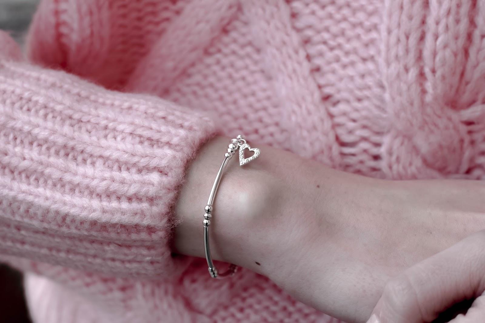 Chlobo Heart Valentine's Silver Bracelet