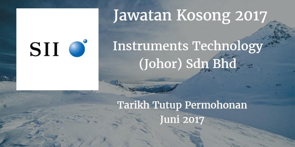 Jawatan Kosong INSTRUMENTS TECHNOLOGY(JOHOR) SDN.BHD Juni 2017