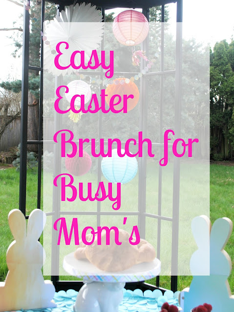 Easy Easter Brunch for Busy Mom's. For more ideas go to FizzyParty.com