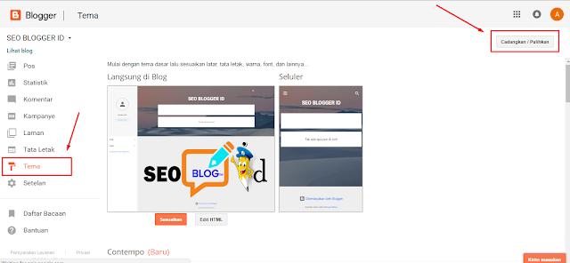Mengganti Template Blog