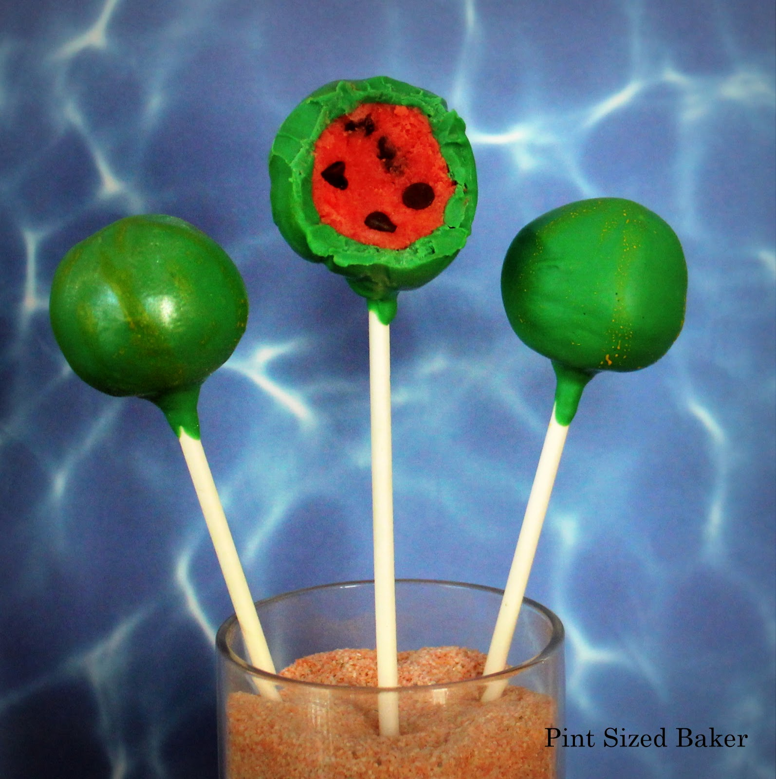 how to make watermelon cake pops pint sized baker. Black Bedroom Furniture Sets. Home Design Ideas