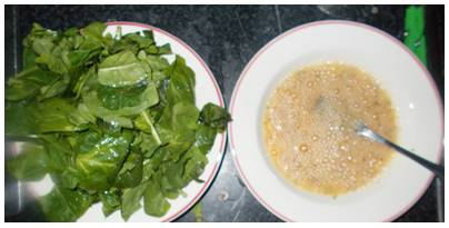 Ideia de café da manha proteico e saudável com ovos espinafre e mussarela