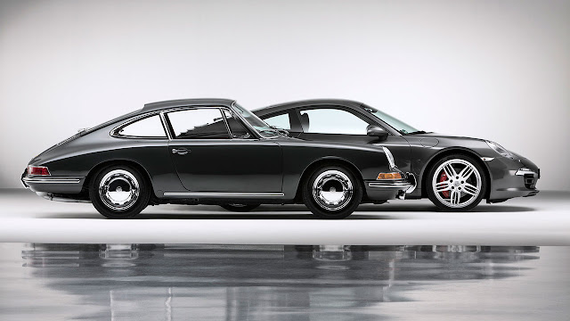50 years anniversary of Porsche 911 side