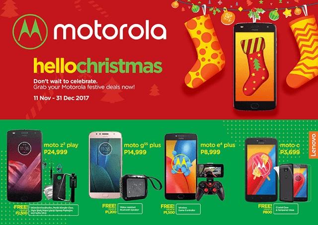 Say #HelloChristmas with Motorola Smartphones