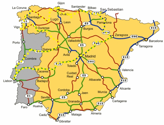 Map Of Northern Spain And Portugal.Lds Missionary Couple In The Madrid Spain Temple Our Trip To
