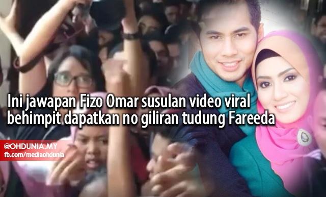 Ini Jawapan Fizo Omar Susulan Video Viral Bersesak Dapatkan No Giliran