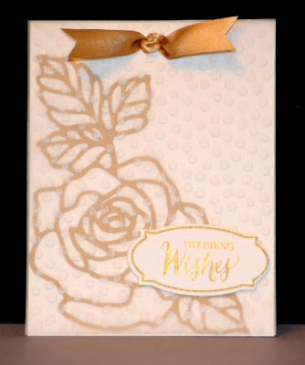 Rose Garden thinlits, Rose Wonder stamp set, Stampin Up, Stamp with Trude, Wedding card, vellum, Tuesday Tutorial
