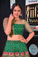 Nandita Swetha in a tight Green Choli Ghagra at IIFA Utsavam Awards March 2017 ~ 014.JPG