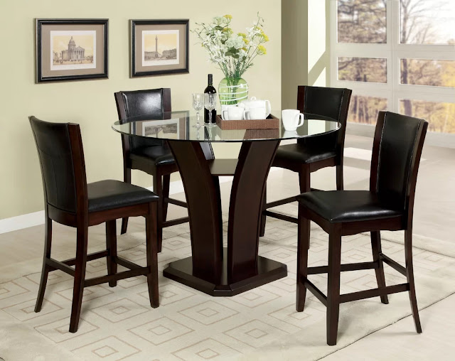 Round Kitchen Tables with Feng Shui touch Round Kitchen Tables with Feng Shui touch Uptown 252B5 252BPiece 252BCounter 252BHeight 252BDining 252BSet