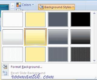 cara mengubah background Presentasi