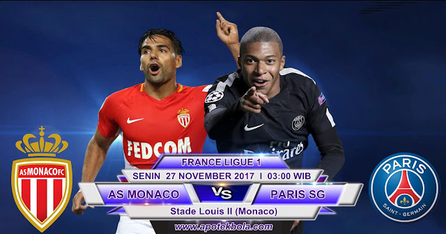 AS Monaco vs Paris Saint Germain 27 November 2017