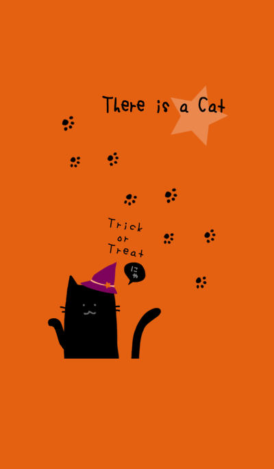 There is a cat*Halloween