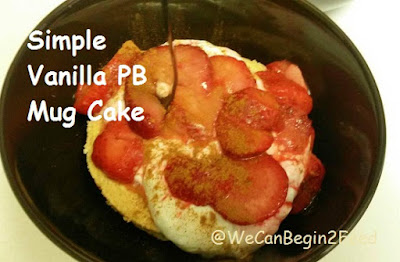 Simple Vanilla PB Mug Cake by @WeCanBegin2Feed