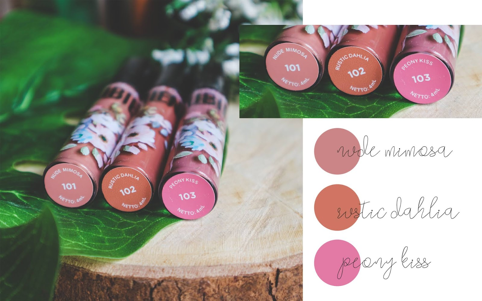rubiena lip & cheek cream swatches & review warna nude