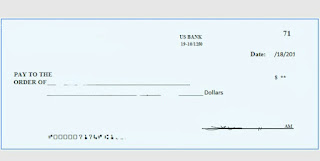 A Cheque is an instruction in writing made upon a bank to pay a given sum of money to a named person or bearer, at a specific date.