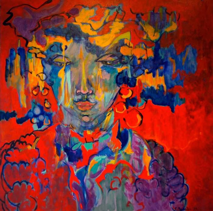 Французский художник. Evelyne Ballestra