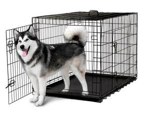 "OxGord 48"" Heavy Duty Foldable Double Door Dog Crate"