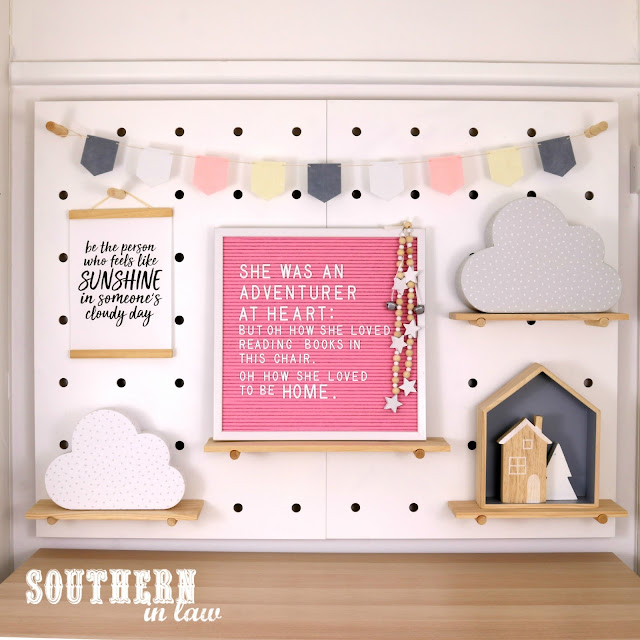 Peg Board Styling Cosy Winter Home Styling Inspiration – Pink and Grey Decor Theme for Bedroom, Living Room or Home Office on a Budget