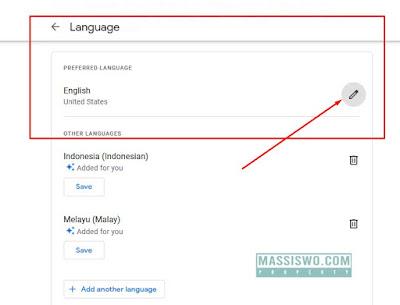 Mengganti bahasa di google form
