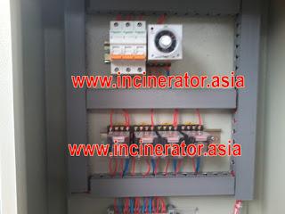 panel kontrol incinerator