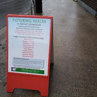 Picturing Health exhibit sign
