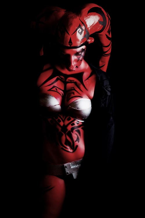 cosplay of Darth Talon with bra
