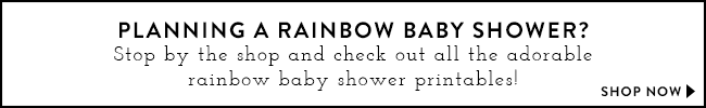 Rainbow Baby Shower Printables