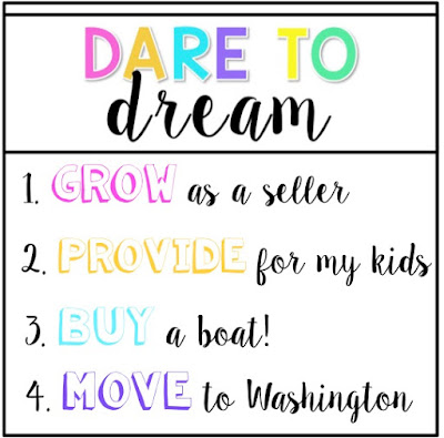 TpT Seller Challenge Week 2 - Dare to Dream