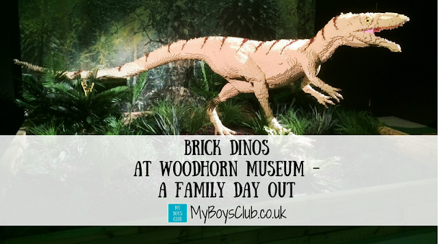 A family day out at Woodhorn Museum in Ashington Northumberland to see Brick Dinos exhibition of Lego and Dinosaurs