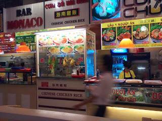 Punto di ristorazione a Ho Chi Minh City. Vietnam
