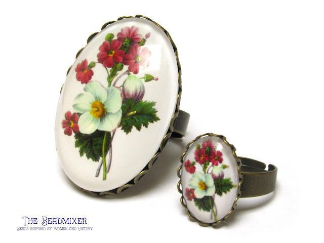 Ringen met vintage stijl bloemen