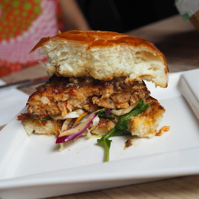 Crab Burger with Yuzu Coleslaw Montana Brew Bar