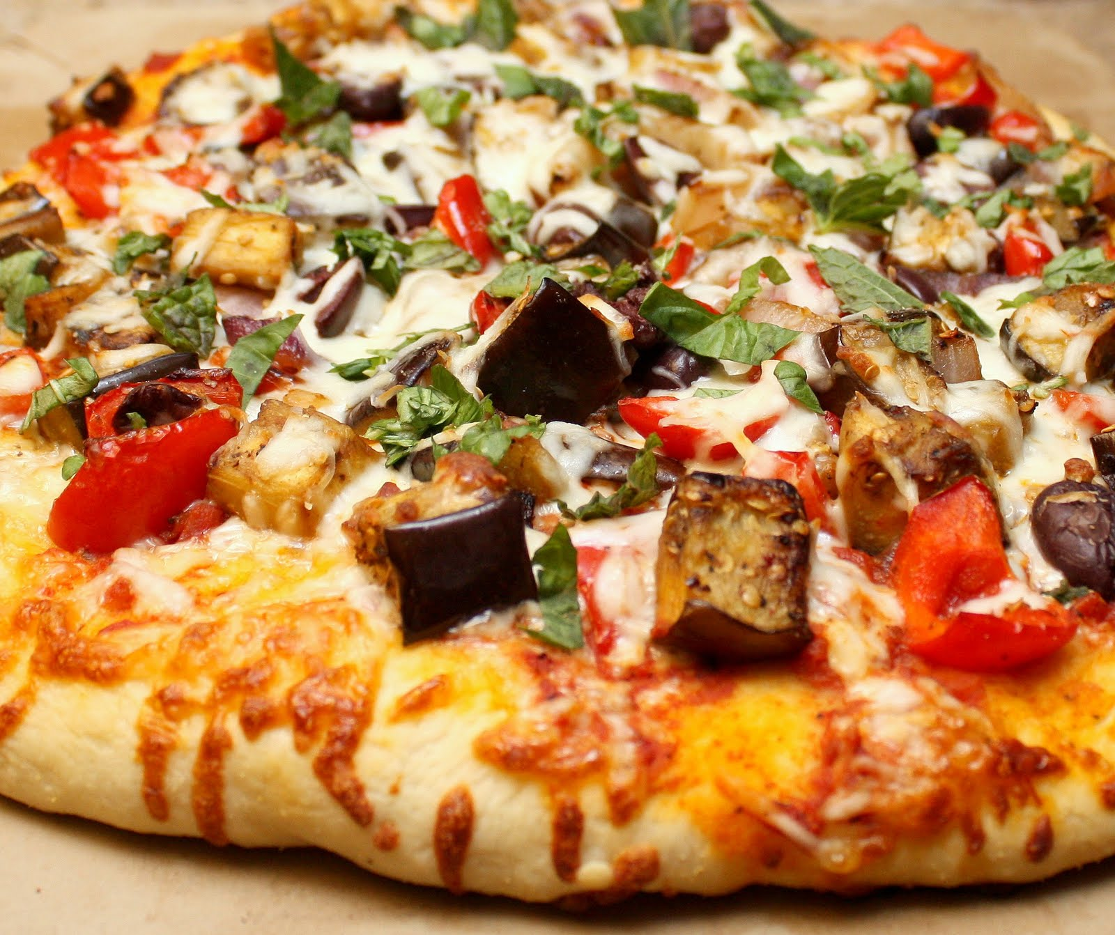 loaded vegetable pizza