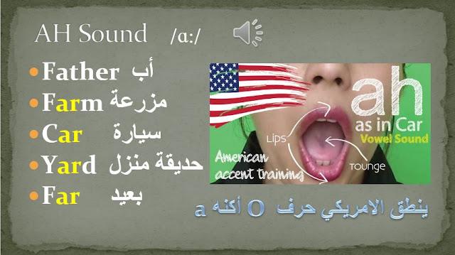 Ah sound - American accent pronunciation