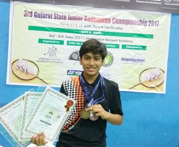 Manav Rachna Sports Academy is currently participating in the Gujarat State Junior Badminton Tournament: Rehnashi Bisht