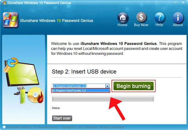 create a password reset disk for Windows 10