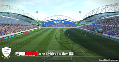 s Stadium homeground of Huddersfield Town for Pro Evolution Soccer  Update, PES 2019 John Smith's Stadium FIX by Arthur Torres