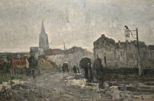 Guillaume Vogels : Ixelles, matinée pluvieuse Musée Fin de siècle à bruxelles