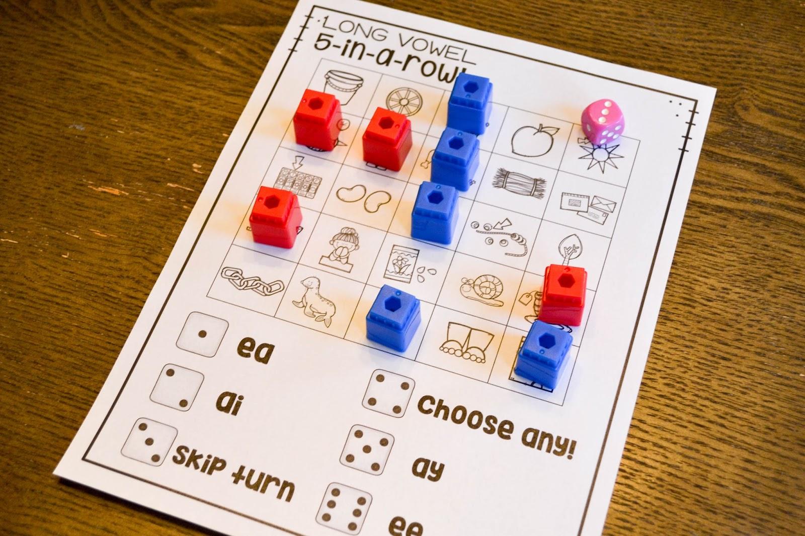 Long Vowel Phonics Games