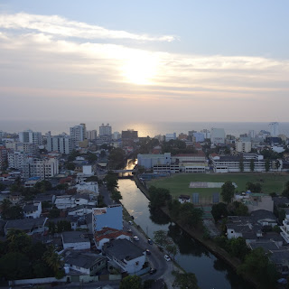 View from Davidson Tower of Havelock City Complex in Colombo Sri Lanka