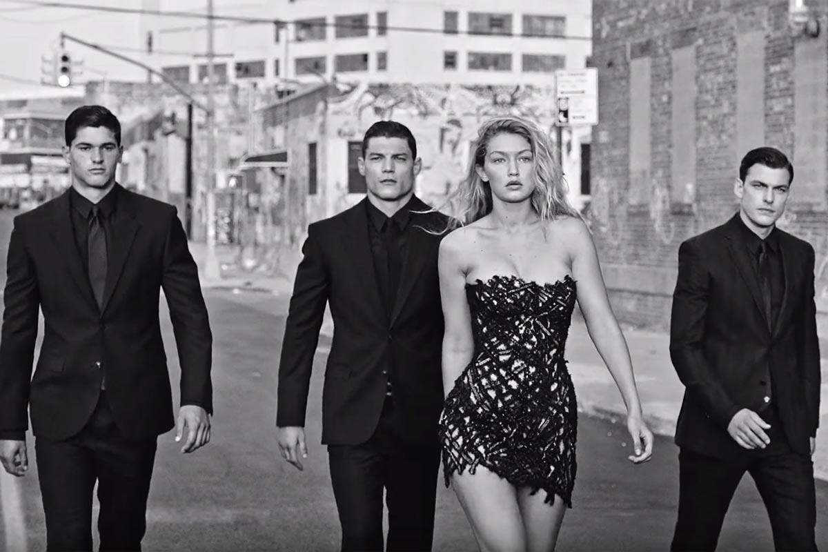 Dylan Blue - Versace + Bruce Weber + Gigi Hadid