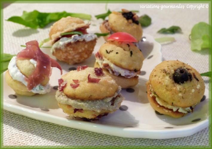 Fabulous Variations Gourmandes: Variations gourmandes de mini whoopies salés KD41