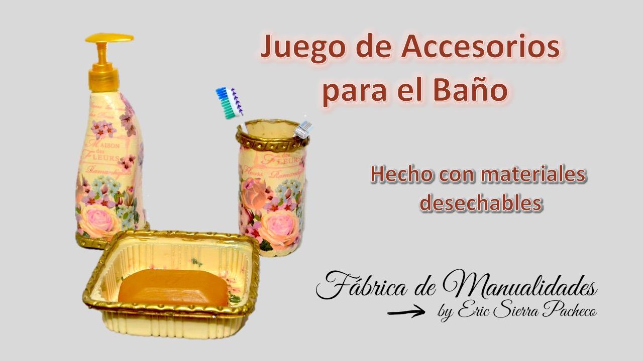 F brica de manualidades juego de accesorios para el ba o for Juego de accesorios de bano