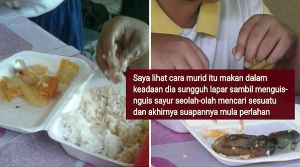 Nasi Lauk Sayur Kat Kantin Sekolah Rendah Harga RM2, Naluri Ibu Buat Saya Menangis Lihat Murid-Murid Ini Makan Dalam Keadaan Lapar