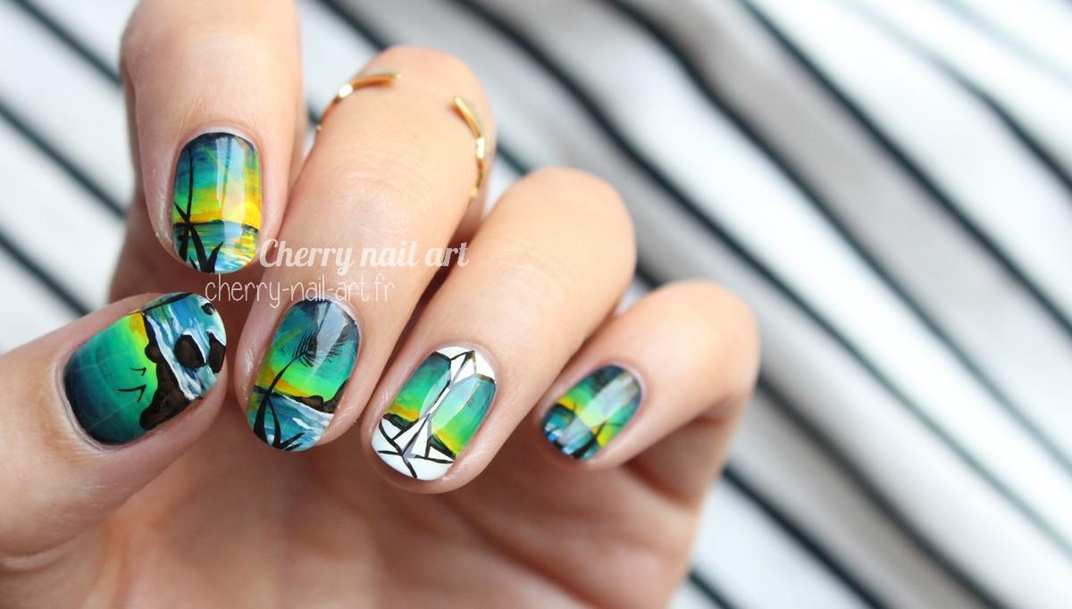 nail-art-paysage-mer-petit-bateau-origami