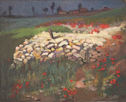 Our April inspiration comes to you from Evelyn Chapman with French ruins with poppies