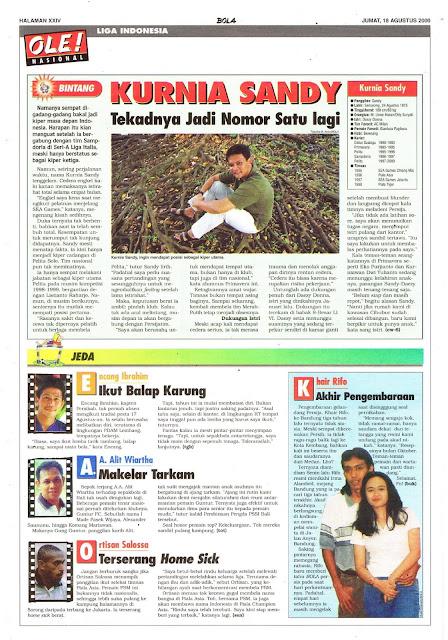 LIGA INDONESIA PROFIL BINTANG KURNIA SANDY